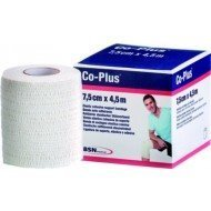 Co-Plus® sans latex - Blanche, dim 4,5 m x 7,5 cm